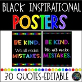 Inspirational Classroom Quotes Posters (black background)