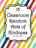 15 Classroom Random Acts of Kindness