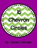 15 Colorful Chevron Circles
