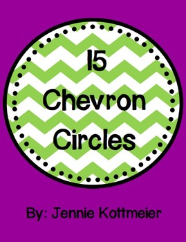15 Colorful Chevron Circles