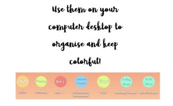 15 Colorful Folder Icons - Macbook/Windows