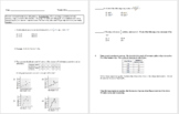 15 Common Core Algebra 1 Weekly Review Assignments