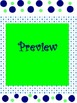 15 Customizable Polka Dot Templates Blue and Lime Green