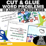 Addition Word Problems within 20 with Manipulatives No Prep with Google Slides