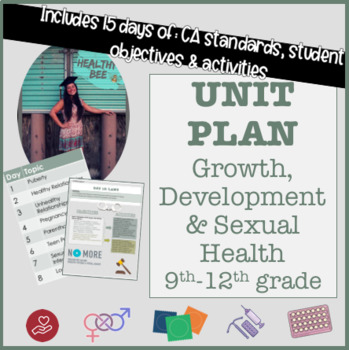 15 DAY UNIT PLAN: Growth, Development and Sexual Health