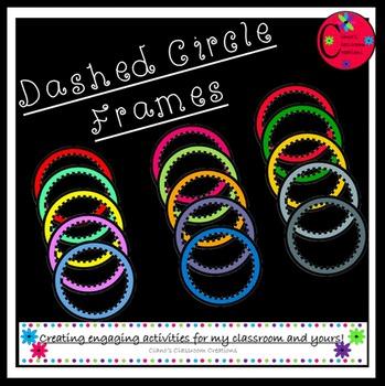 Dashed Circle Frames