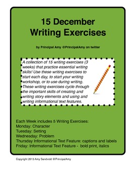 15 December Writing Exercises for Guided Writing and Beyond