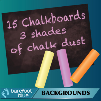 15 Different Chalkboards with Warm Coloured Chalk Dust