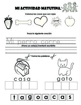 15 Different Spanish Morning Activities for Pre-K / Kindergarten!