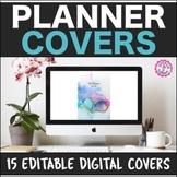 15 Digital Planner Covers Editable [FREE SLP PLANNER INCLUDED!]