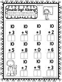 15 Double Digit Adding Worksheets. Numbers 10-20. Preschool-1st Grade Math.