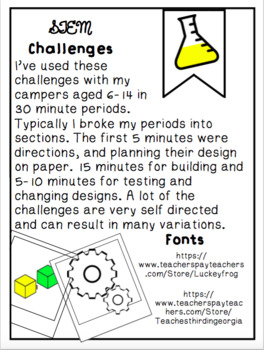 15 - Easy 30 minute STEM Challenges