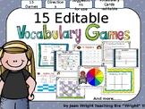 15 Editable Vocabulary Games