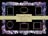 15 Elegant Gem Frames, Separate PNG Files, High Resolution.
