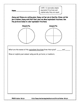 15 Extended Response Math Word Problems for Number & Operations - Fractions