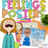 Feelings & Coping Strategies Posters for Calm Corners, SEL, & Counseling Decor
