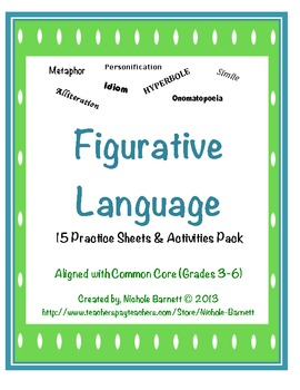 15 Figurative Language Practice Sheets & Activities