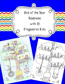 15 Fingerprint Kids End of the Year and Autograph Memory Page