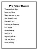 15 Fluency Passages Pre-Primer-Second, Non Sense, other