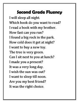 15 Fluency Passages Pre-Primer-Second, Non Sense, other