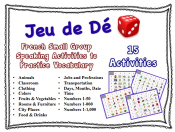15 French Small Group Speaking Activities to Practice Vocabulary (No Prep)