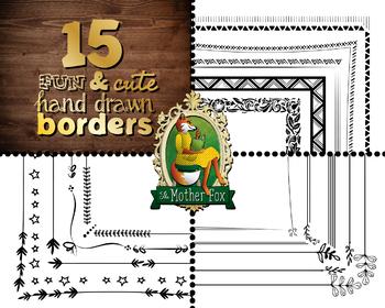 15 Fun & Cute Hand Drawn Borders
