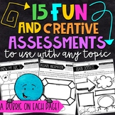 15 Fun Formative Assessments for ANY Topic