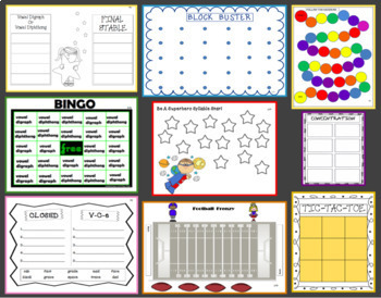 15 Games Teaching Syllable [Vowel] Types