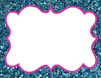15 Glitter frames high resolution