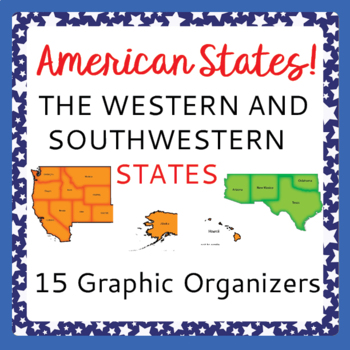 US Geography Southwestern Western States 12 Graphic Organizers for Research