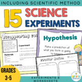 Science Experiments and Worksheets