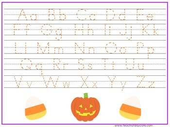 15 halloween themed alphabet numbers and shapes tracing worksheets. Black Bedroom Furniture Sets. Home Design Ideas