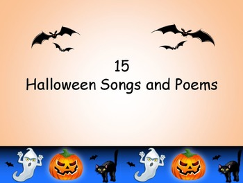 15 Halloween songs and Poems Book and Powerpoint