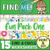 15 I-SPY Worksheets - Promote Focus & Attention