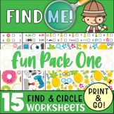 15 Find & Circle the Hidden Objects: Worksheet Pack (One)