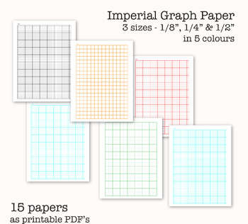 15 Imperial Measure Graph Papers - Digital Graph Paper, PDF, Printable