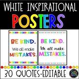 Inspirational Classroom Quotes Posters (white background)