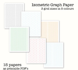 15 Isometric Graph Papers - Digital Graph Paper, PDF