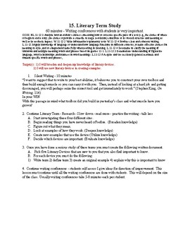 15. Literary Term Study & Writing Conferences