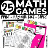 25 Math Games Using Dice and Cards