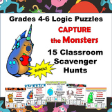 15 Math Scavenger Hunt Games Bundle Grades 4-6