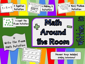 15 Math Write the Room Activities