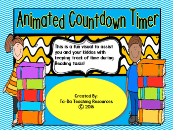 15 Minute Animated Countdown Timer For Reading Tasks