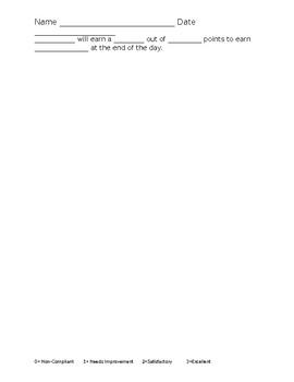 15 Minute Behavior chart