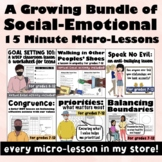 Save 30%!  Brief Solution Focused 15 Minute Micro-Lesson Bundle