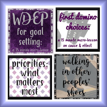 Quick Character, Anti-Bullying, Goal Setting, and Life Skills Lesson Bundle