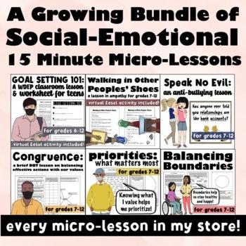 Save 30%!  Brief Solution Focused 15 Minute Micro-Lesson Bundle