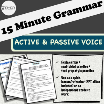 15 Minute Grammar - Active and Passive Voice - Explanation and Practice