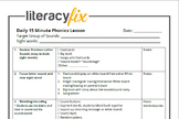 15 Minute Phonics Lesson Plan Template