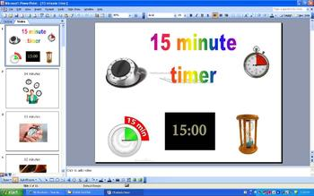 15 Minute Timer PowerPoint for Classroom Management